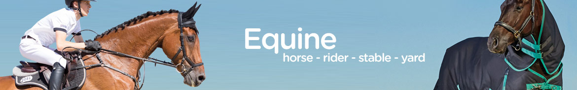 Wide selection of Equine products for horse and rider