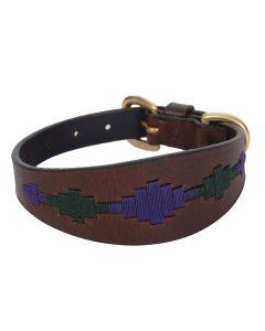 Weatherbeeta Lurcher Polo Leather Dog Collar