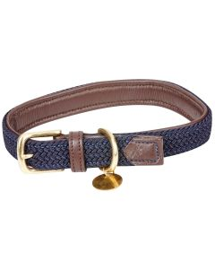 Weatherbeeta Leather Plaited Dog Collar