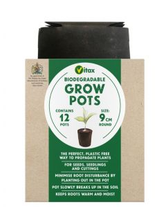 Vitax Grow Pots Round - 9cm