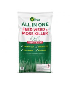 Vitax All In One Feed Weed & Moss Killer - 625sqm