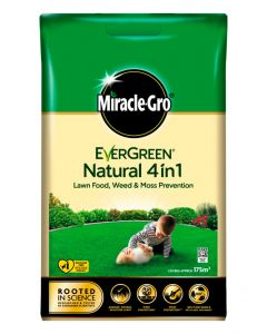 Miracle-Gro Natural 4 in 1 Feed, Weed & Mosskiller - 175m2