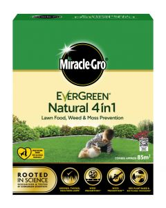 Miracle-Gro Natural 4 in 1 Feed, Weed & Mosskiller - 85m2
