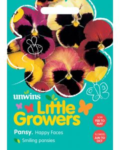 Little Growers Pansy Happy Faces Seeds