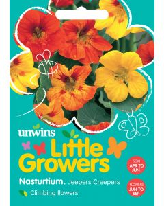Little Growers Nasturtium Jeepers Creepers Seeds