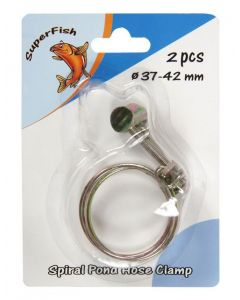 SuperFish Spiral Pond Hose Clamp - 37-42mm - 2 Pieces