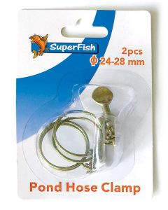 SuperFish Spiral Pond Hose Clamp - 24-28mm - 2 Pieces