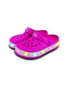 Light-Up Kids EVA Cloggies Pink- Size 8