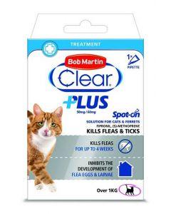 Bob Martin Clear Plus Spot On Solution For Cats & Ferrets - 1 Pipette