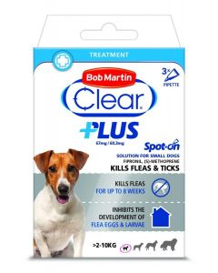 Bob Martin Clear Plus Spot On Solution For Small Dogs - 3 Pipettes