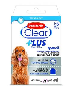 Bob Martin Clear Plus Spot On Solution For Medium Dogs - 1 Pipette
