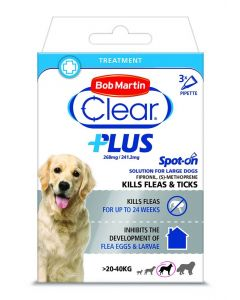 Bob Martin Clear Plus Spot On Solution For Large Dogs - 3 Pipettes