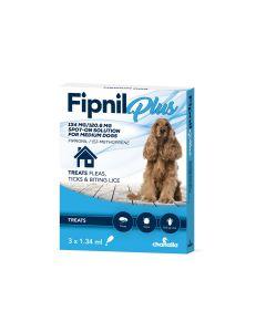 Fipnil Plus Spot-On For Medium Dogs 10-20Kg - 3 Pipettes
