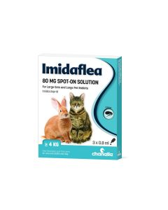 Imidaflea 80Gm Spot-On For Large Cats & Rabbits Over 4Kg - 3 Pipettes