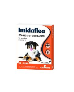 Imidaflea 250Gm Spot-On For Large Dogs 10-25Kg - 3 Pipettes