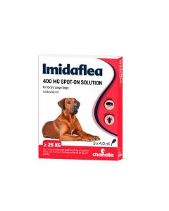 Imidaflea 400Gm Spot-On For Extra Large Dogs Over 25Kg - 3 Pipettes
