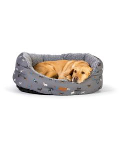 Danish Design Fatface Marching Dogs Deluxe Slumber Bed
