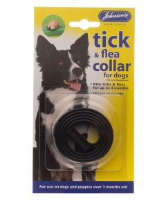 Johnson's Veterinary Dog Tick & Flea Collar Black