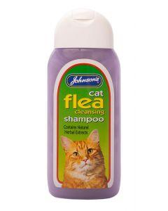 Johnson's Veterinary Cat Flea Cleansing Shampoo - 200ml