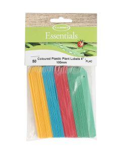 """Tildenet  Coloured Plastic Plant Labels 4"""" - 100mm"""