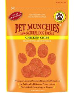 Pet Munchies Chicken Chips - 100g - Chicken - Pack of 8
