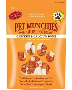 Pet Munchies Chicken & Calcium Bone - 100g - Pack of 8
