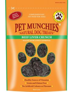 Pet Munchies Beef Liver Crunch - 90g - Pack of 8
