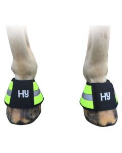 Reflector Over Reach Boots by Hy Equestrian - Orange - Full
