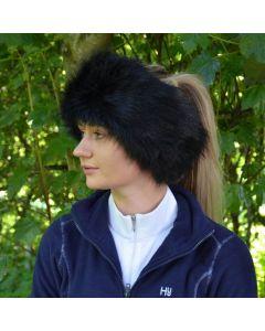 HyFASHION Canadian Faux Fur Headband - Black