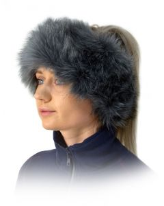 HyFASHION Canadian Faux Fur Headband - Grey