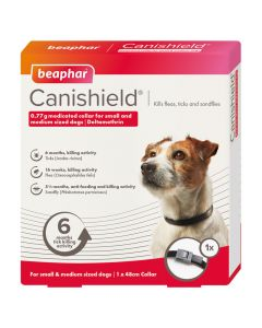 Beaphar Canishield Tick Collar - Dog - S/M 48cm