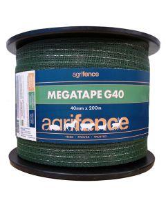 Agrifence Megatape G40 Reinforced Tape - Green - 40mm x 200m
