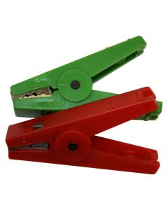 Agrifence Croc Clips - Red/Green - Pack of 2