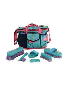Hy Flamingo Complete Grooming Bag - Teal/Provence Blue