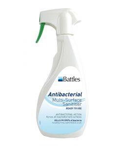 Battles Antibacterial Multi-Surface Sanitiser (Ready To Use) - 500ml