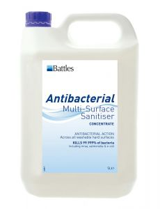 Battles Antibacterial Multi-Surface Sanitiser (Concentrate) - 5L