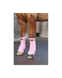 Supreme Products Dotty Fleece Boots - Pretty Pink - Small Pony