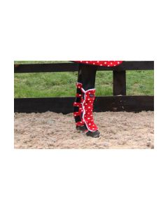 Supreme Products Dotty Fleece Boots - Rosette Red - Small Pony