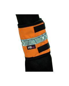 HyVIZ Leg Bands - Cob/Horse - Orange/Black