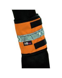 HyVIZ Leg Bands - Orange/Black - Pony