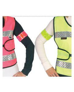 HyVIZ Rider Elasticated Arm/Leg Band - Pink/Black - One Size