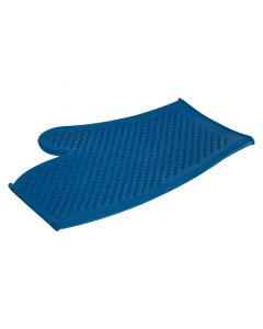 Lincoln Rubber Grooming Mitt - Blue