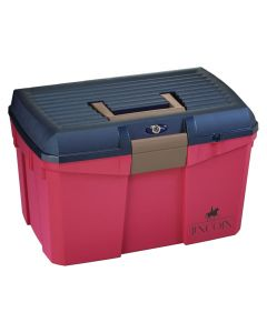 Tack Box Lincoln Limited Edition - Medium - Raspberry/Blue - Art. 168
