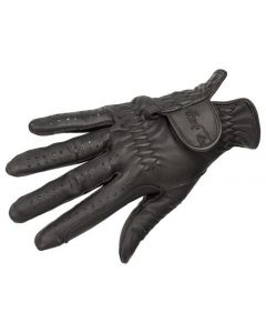 Mark Todd Leather Riding/Show Gloves Child Black - 7-9yrs