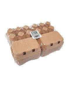 Eton Egg Box Plain Flat Top - Brown - Pack of 20