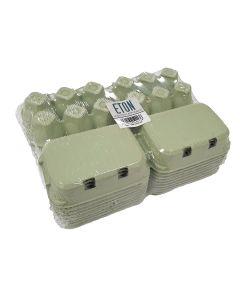Eton Egg Box Plain Flat Top - Green - Pack of 20