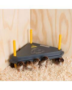 Chicktec Comfort 30 Std Triangle Corner Brooder - Black / Yellow - 30cm x 30cm