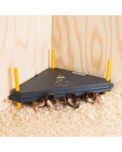 Chicktec Comfort 40 Std Triangle Corner Brooder - Black / Yellow - 40cm x 40cm