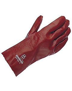 Gloves Pvc Gauntlet - Red