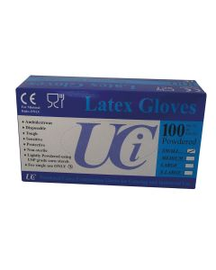 Gloves Latex Examination Pack of 100